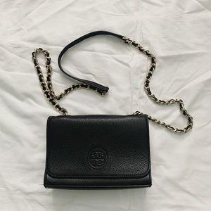 TORY BURCH - Bombe Shrunken Shoulder Bag - Black